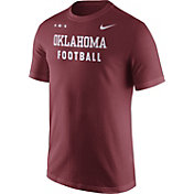 Nike Men's Oklahoma Sooners Crimson Football Sideline Facility T-Shirt