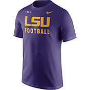 Nike Men's LSU Tigers Purple Football Sideline Facility T-Shirt