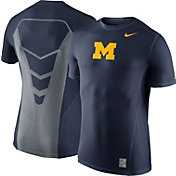 Nike Men's Michigan Wolverines Blue Hypercool Fitted Performance T-Shirt