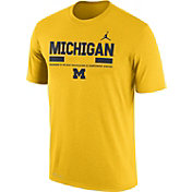 Jordan Men's Michigan Wolverines Maize Football Staff Legend T-Shirt