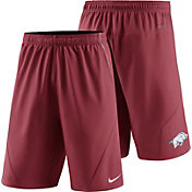 Nike Men's Arkansas Razorbacks Cardinal Fly XL 5.0 Football Sideline Shorts