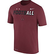 Nike Men's Arkansas Razorbacks Cardinal FootbALL Sideline Legend T-Shirt