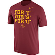 Nike Men's Iowa State Cyclones Cardinal 'For I, For S, For U' Authentic Local Legend T-Shirt