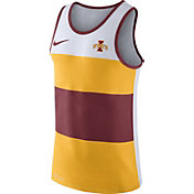 Nike Men's Iowa State Cyclones White/Gold/Cardinal Wide Stripe Dri-Blend Tank