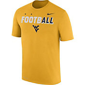 Nike Men's West Virginia Mountaineers Gold FootbALL Sideline Legend T-Shirt