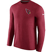 Nike Men's Arizona Cardinals Sideline 2017 Coaches Charcoal Long Sleeve Shirt