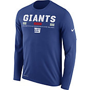 Nike Men's New York Giants Legend Staff Blue Long Sleeve Performance Shirt