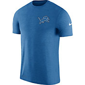 Nike Men's Detroit Lions Sideline 2017 Coaches Performance Blue T-Shirt