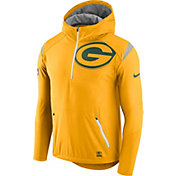 Nike Men's Green Bay Packers Sideline 2017 Fly Rush Gold Lightweight Jacket