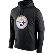 Nike Men's Pittsburgh Steelers Performance Circuit Logo Essential Black Hoodie