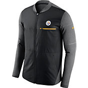Nike Men's Pittsburgh Steelers Sideline 2017 Shield Hybrid Black Jacket
