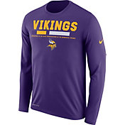 Nike Men's Minnesota Vikings Legend Staff Purple Long Sleeve Performance Shirt