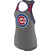 Nike Women's Chicago Cubs Dri-FIT Grey Wordmark Tank Top