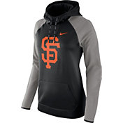 Nike Women's San Francisco Giants Grey Therma Pullover Hoodie