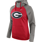 Nike Women's Georgia Bulldogs Grey/Red Tailgate All Time Performance Hoodie
