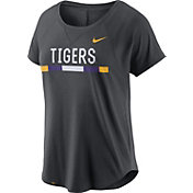 Nike Women's LSU Tigers Anthracite Modern Fan 2.0 Performance T-Shirt