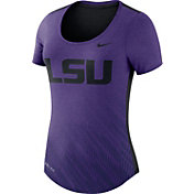 Nike Women's LSU Tigers Purple Dri-Blend Scoop Neck T-Shirt