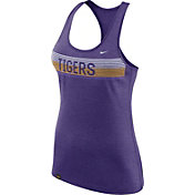 Nike Women's LSU Tigers Heathered Purple Dri-FIT Touch Racerback Tank Top
