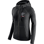 Nike Women's Atlanta Falcons Gym Vintage Full-Zip Black Hoodie