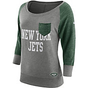 Nike Women's New York Jets Tailgate Vintage Crew Grey Long Sleeve Shirt