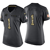 Nike Women's Home Game Jersey Carolina Panthers Cam Newton #1 Salute to Service 2016