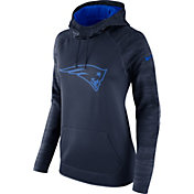 Nike Women's New England Patriots Therma-FIT Navy Performance Hoodie