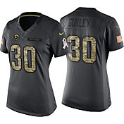 Nike Women's Home Game Jersey Los Angeles Rams Todd Gurley #30 Salute to Service 2016