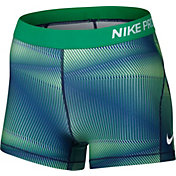 Nike Women's 3'' Pro Cool Pyramid Printed Shorts