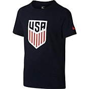 Nike Youth USA Navy Crest T-Shirt