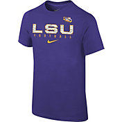 Nike Youth LSU Tigers Purple Core Facility Football Sideline T-Shirt