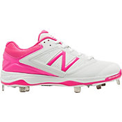 New Balance Women's 4040 V1 Pink Metal Baseball Cleats