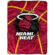 Northwest Miami Heat Shadow Play Raschel Throw Blanket
