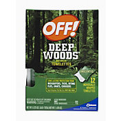 Off Deep Woods Insect Repellent Towelettes – 12 Count