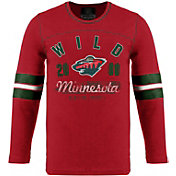 Old Time Hockey Youth Minnesota Wild Dax Red Long Sleeve T-Shirt