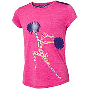 Reebok Girls' Fashion Cheerleader Graphic T-Shirt