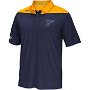 Reebok Men's St. Louis Blues Center Ice Statement Navy/Gold Polo
