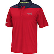 Reebok Men's Washington Capitals Center Ice Statement Red/Navy Polo