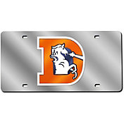 Rico Denver Broncos Silver Retro Laser Tag License Plate