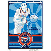 That's My Ticket Oklahoma City Thunder Russell Westbrook Propaganda Canvas Serigraph