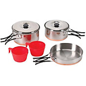 Stansport 2-Person Stainless Steel Mess Kit
