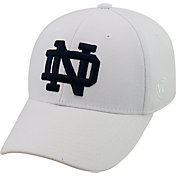 Top of the World Men's Notre Dame Fighting Irish White Premium Collection M-Fit Hat