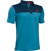 Under Armour Boys' Performance Blocked Golf Polo