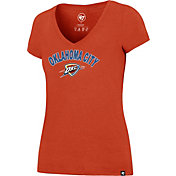 '47 Women's Oklahoma City Thunder Arch Basic Orange V-Neck T-Shirt