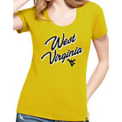 '47 Women's West Virginia Mountaineers Gold Logo Club T-Shirt