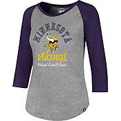 '47 Women's Minnesota Vikings Club Grey Raglan T-Shirt