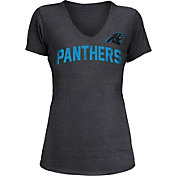 5th & Ocean Women's Carolina Panthers Block Rhinestone Black T-Shirt