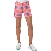 adidas Girls' Paint Stripe Golf Shorts