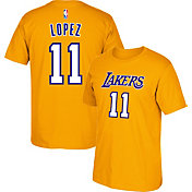 adidas Men's Los Angeles Lakers Brook Lopez #11 Gold T-Shirt