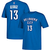 adidas Men's Oklahoma City Thunder Paul George #13 Blue T-Shirt