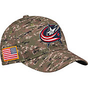 adidas Men's Columbus Blue Jackets Camo Structured Fitted Flex Hat